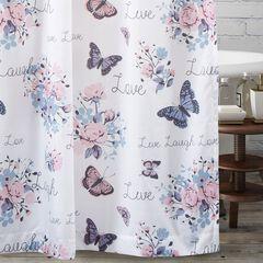 Barefoot Bungalow Garden Joy Shower Curtain, WHITE
