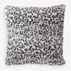 Animal Print Faux Fur Pillow Covers, SNOW LEOPARD PRINT