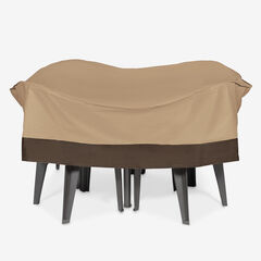 Outdoor Round Table and Chair Cover, TAUPE