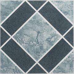 "Nexus 12"" x 12"" Self Adhesive Vinyl Floor Tile, LIGHT DARK BLUE"
