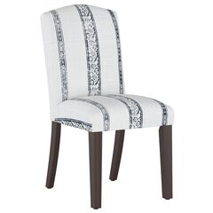 Block Paisley Back Dining Chair, LIGHT GREY