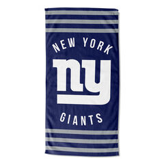 NY Giants Stripes Beach Towel, MULTI