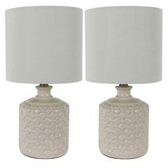 Ivory Ceramic 2-Pack LED Table Lamps, IVORY
