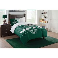 TWIN COMFORTER SET DRAFT-JETS, MULTI