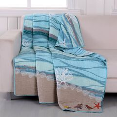 Greenland Home Fashions Maui Quilted Throw Blanket, MULTI
