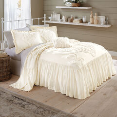 Madison Flounce Chenille Bedspread, IVORY