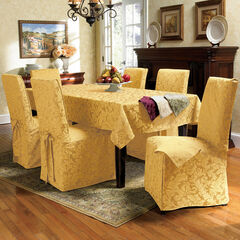 17-Pc. Damask Table Linen Set, GOLD