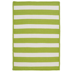 Bay Stripe Lime Rug, LIME