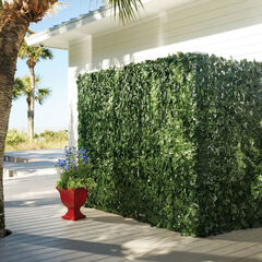 "78""H Faux Greenery Privacy Screen, GREEN"