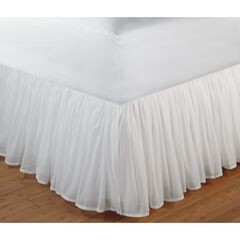 "Cotton Voile Bed Skirt 15"", WHITE"