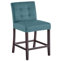 Aida Extra-Wide Counter Stool, BLUE HAZE