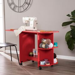 Expandable Rolling Sewing Table/Craft Station, RED