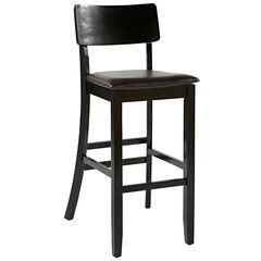 "Torino Collection Contemporary Bar Stool, 30""H, BLACK"