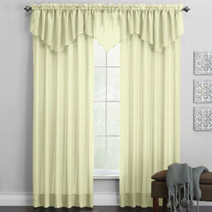 BH Studio Sheer Voile Ascot Valance, PEAR