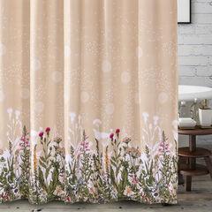 Dandelion Taupe Bath Shower Curtain, TAUPE
