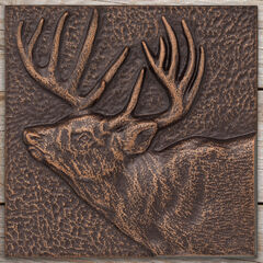 "Buck 8"" x 8"" Indoor Outdoor Wall Décor, ANTIQUE COPPER"