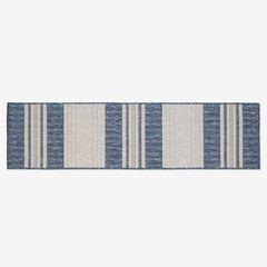 "Carmel Indoor/Outdoor Bold Stripe Rug 1'11"" x 7'6"", NAVY"