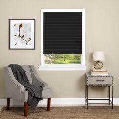 Cordless 1-2-3 Vinyl Room Darkening Pleated Window Shade, BLACK