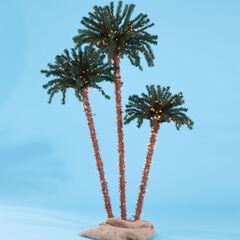 Pre-Lit 3-Branch Palm Tree, LED