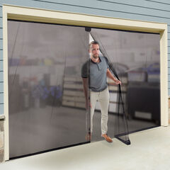 Double Garage Door Screen, BLACK