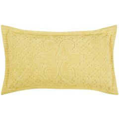 Ashton Collection Tufted Chenille Sham , YELLOW