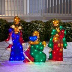 Set of 3 Wise Men Yard Decor, MULTI