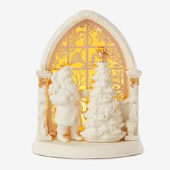 Lenox® Light-Up Santa Scene, WHITE GOLD