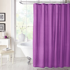 BH Studio Textured Shower Curtain, GRAPE