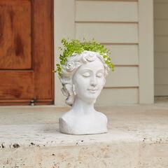 Lady Head Planter, STONE