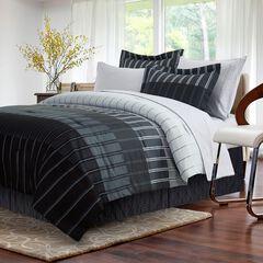 Ombre Stripe Grey Bed-In-Bag, GREY