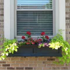 Mayne® Fairfield 4' Window Box, BLACK