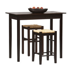 3-Pc Tavern Counter Set, ESPRESSO