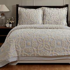 Eden Comforter Set Collection, GREY IVORY