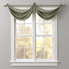 BH Studio Room-Darkening Waterfall Grommet Valance, SAGE