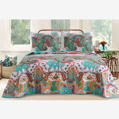 Nirvana Quilt Set , TEAL