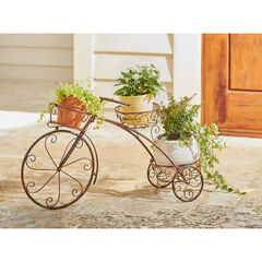 Tricycle Plant Stand, BRONZE