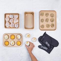 """Kalorik MAXX """"Bake it 'Til You Make it"""" 6-Piece Baking Set, COPPER"""