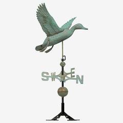 Copper Duck Weathervane , VERDIGRIS