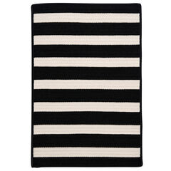 Bay Stripe Black Rug, BLACK