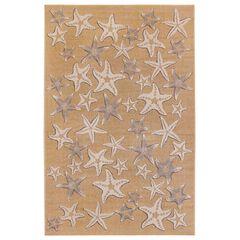 Liora Manne Carmel Starfish Indoor/Outdoor Rug, SAND