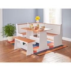 Breakfast Nook Table & Bench, WHITE HONEY