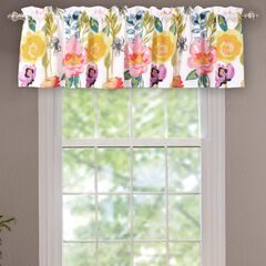 Watercolor Dream Window Valance , WHITE