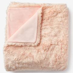 Plush Faux Fur Throw, SOFT PINK