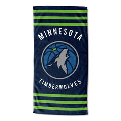 Timberwolves Stipes Beach Towel, MULTI