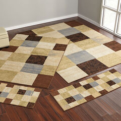 Checkered Box 4-Pc. Rug Set, BLUE MULTI