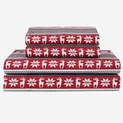 Flannel Printed Sheet Set, DEER