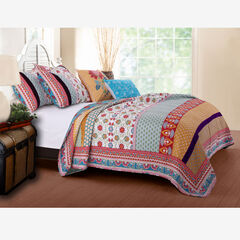 Thalia Quilt Set , BLUE