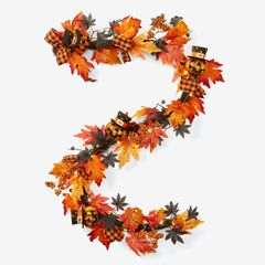 6' Pre-Lit Jack-O-Lantern Garland, ORANGE