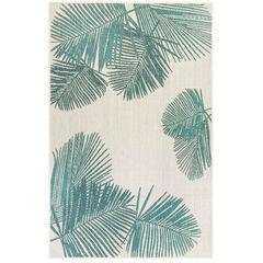 Liora Manne Carmel Palm Indoor/Outdoor Rug, AQUA
