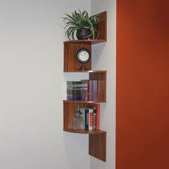 Hanging Corner Storage, LIGHT WALNUT